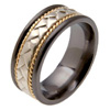 Black Zirconium Ring - Rome