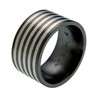 Black Titanium Ring - Safari Inlay