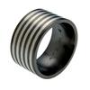 Black Titanium Ring - Safari Inlay