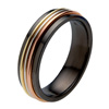 Black Zirconium Ring - Tre-Colori