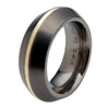 Black Titanium Ring - Veritus Inlay