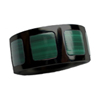 Black Zirconium Ring - Stone Raised Inlay Squares