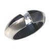 Black Titanium Ring - Angula Duo