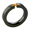 Black Titanium Ring - Citron