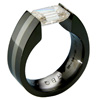 Black Zirconium Ring - Excentris with inlay