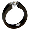 Black Zirconium Ring - Excentris