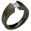 Black Zirconium Ring - Excentris Tapered
