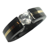 Black Titanium Ring - Heart Narrow