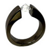 Black Titanium Ring - Head Over Heel