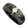 Black Zirconium Ring - Igloo Solitaire