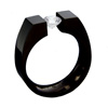 Black Zirconium Ring - Maxi Allonge
