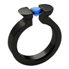 Black Titanium Ring - Black Oracle