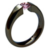 Black Zirconium Ring - Sateen