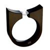 Black Titanium Ring - Tango