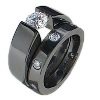 Black Titanium Ring - Titanium Love Set