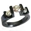 Black Titanium Ring - Two Onto One