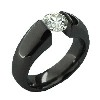 Black Titanium Ring - Vella Black