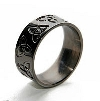 Black Zirconium Ring - Triad Black