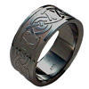 Black Zirconium Ring - Celtic Knot