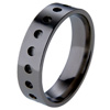 Black Titanium Ring - Dots