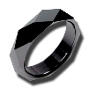 Black Zirconium Ring - Facets Galore