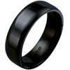 Black Titanium Ring - Flat Classic Rounded Edge