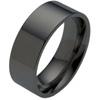 Black Titanium Ring - Flat Classic