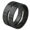 Black Titanium Ring - Tinga Flat