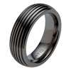 Black Titanium Ring - Groovy