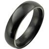 Black Titanium Ring - Half Round Classic