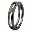 Black Titanium Ring - Half Round Tinga