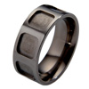 Black Titanium Ring - Hollow Squares