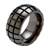 Black Zirconium Ring - Tortoise