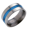 Titanium Ring - FLAT GLAZED INLAY - AbsoluteTitanium.com