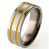 Titanium Ring - Flat Duet Inlay