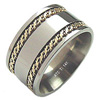 Titanium Ring - Titanium Ring Flat Patterned Duet