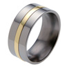 Titanium Ring - Flat Raised Inlay
