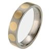 Titanium Ring - Inlaid Circles