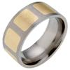 Titanium Ring - Inlaid Squares