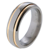Titanium Ring - Recessed Duet Inlay