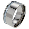 Titanium Ring - Offset Mother of Pearl Inlay