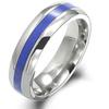 Titanium Ring - Lapiz Lazuli Inlay
