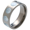 Titanium Ring - Mother of Pearl Inlaid Circles