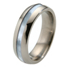 Titanium Ring - Mother of Pearl Inlay