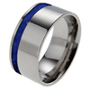 Titanium Ring - Offset Lapiz Lazuli Inlay
