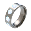 Titanium Ring - Opal Inlaid Circles