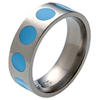 Titanium Ring - Turquoise Inlaid Circles