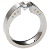 Titanium Ring - Excentris with 8 F-VS Diamonds