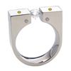Titanium Ring - The Anvil set with 4 F-VS Diamonds