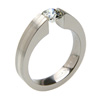 Titanium Ring - Excentris with inlay